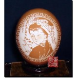 四大美女-西施 蛋雕工艺品 收藏珍品 非物质文化遗产 民间艺术
