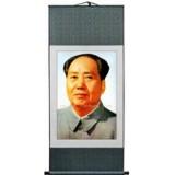 蜀锦毛泽东头像非物质文化遗产 四川特色旅游领导纪念文化礼品