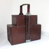 80年代老式竹编提篮 两层双开门式竹编送餐篮 非物质文化遗产
