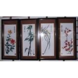 梅兰竹菊--全彩铁画--芜湖铁画--中国非物质文化遗产-古月铁画坊