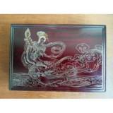 红木嵌银工艺品 非物质文化遗产 纯手工艺术 首饰盒