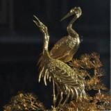 镀金松鹤长春,非物质文化遗产,安徽特色手工艺品,艺蕾铁画直销